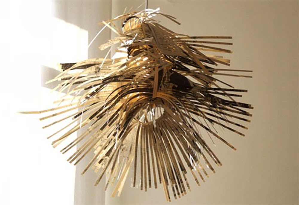 Lampada Origami Di Edward Chew : Illuminazione ecosostenibile e di design: riciclo e fai da te.