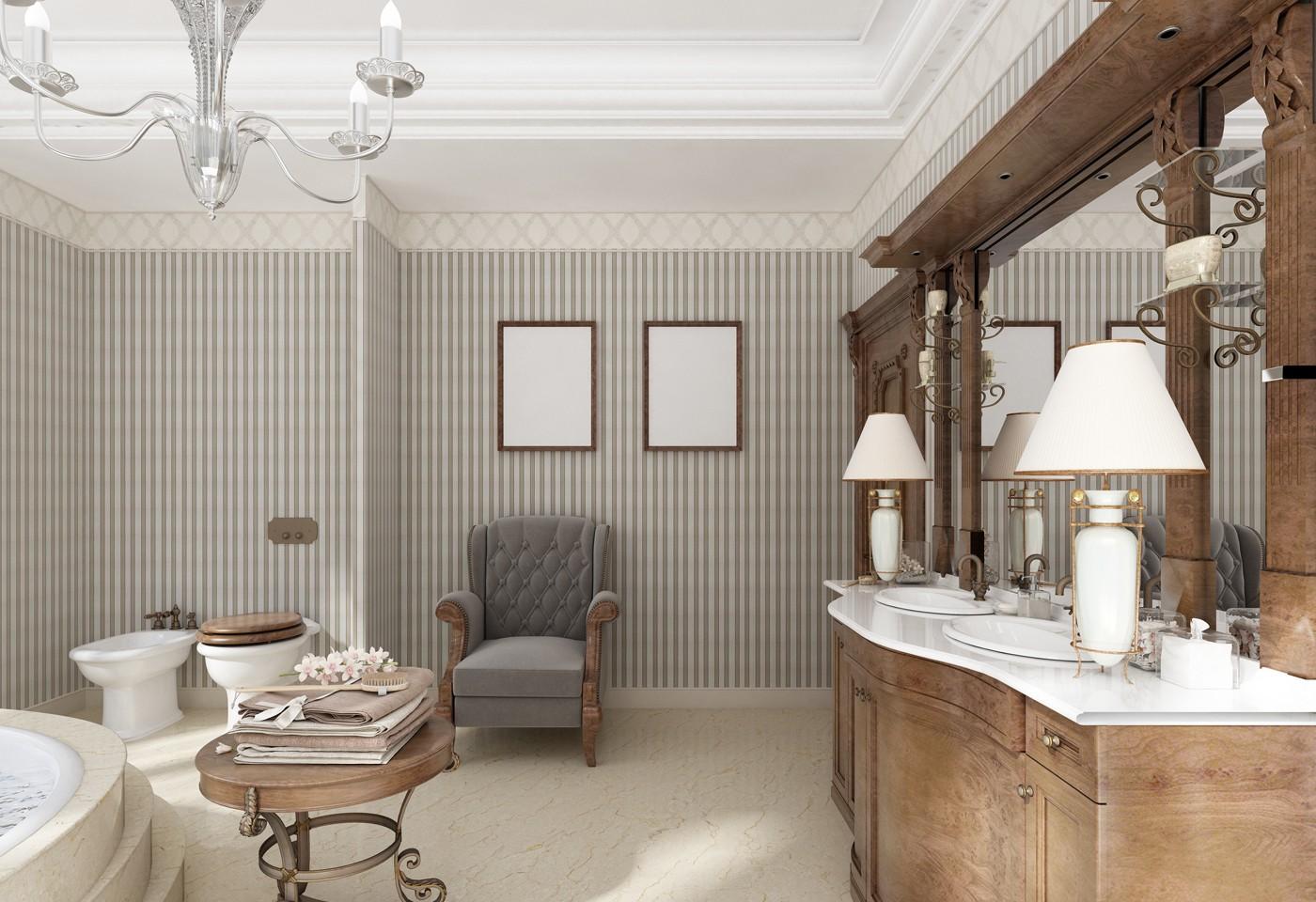 Arredamento classico moderno spazi sofisticati ed eleganti for Arredamento moderno classico