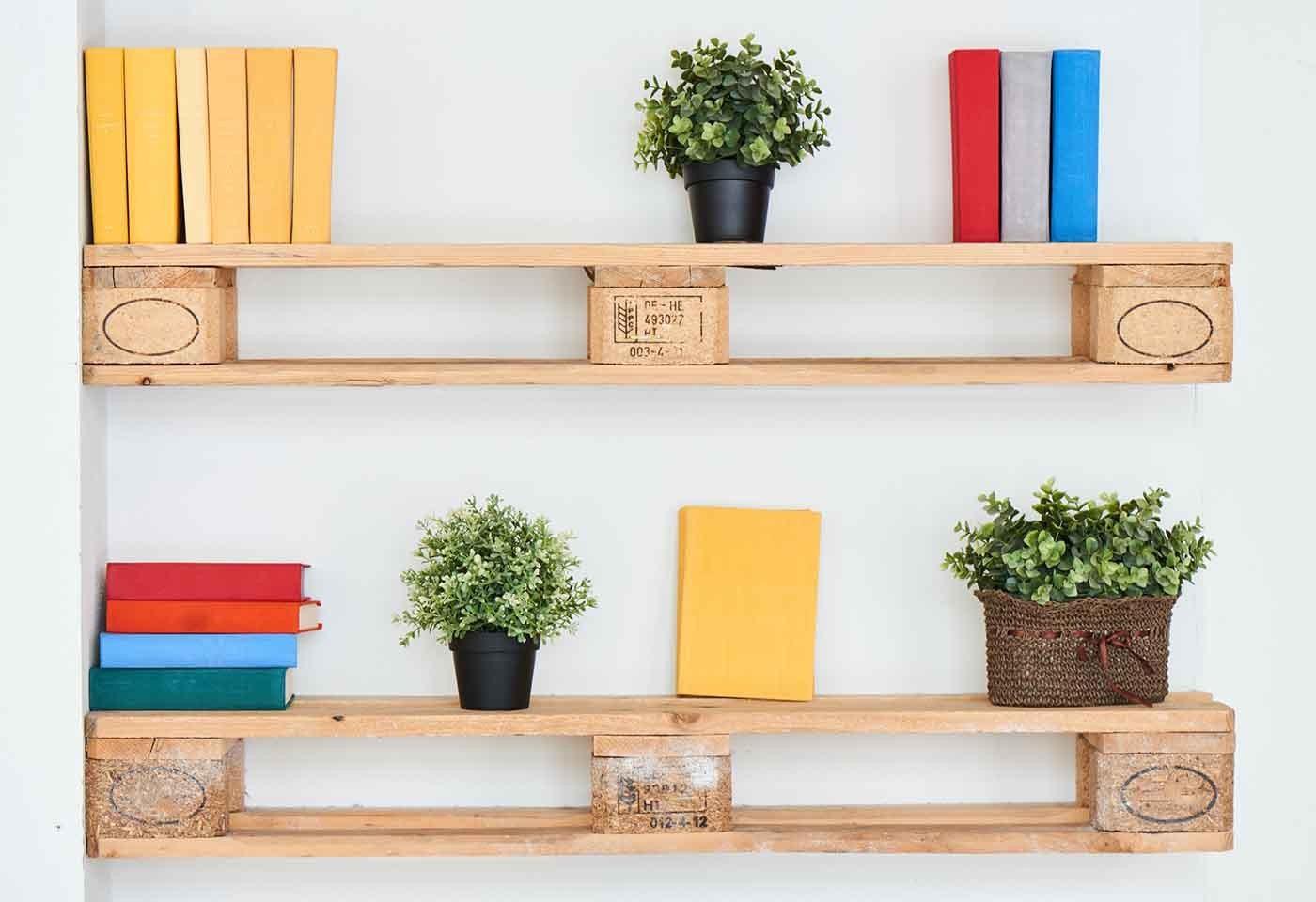 Costruire Mensole Per Libreria A Muro.Mensole Fai Da Te Originali In Legno Riciclo Creativo E Idee