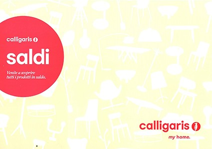 Saldi Calligaris dal 7 luglio al 31 agosto