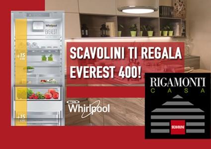 Frigorifero Whirlpool in omaggio con Scavolini